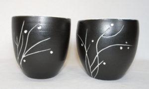 bolinette noire/blanche porcelaine nature