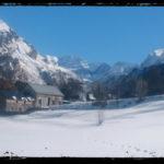 hiver avec vu sur le cirque de troumouse