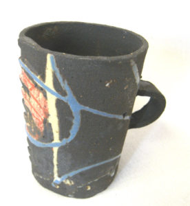 "Tasse en ""paper clay"" grès noir"