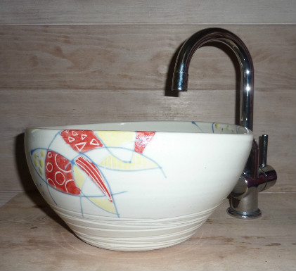 Lave main porcelaine