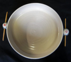 interieur plat four grès blanc